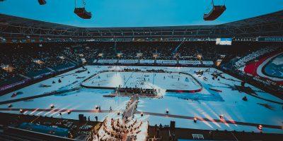 Übersicht vor dem Spiel zwischen den Schwenninger Wild Wings gegen die Adler Mannheim beim 3. DEL Wintergame am 07.01.2017 in Sinsheim, Deutschland. (Foto von City-Press GbR)